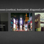 Sliding boxes (Verical, Horizontal, Diagonal) di testi e immagini con i CSS3