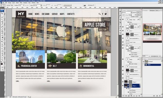 Come disegnare un sito web in photoshop con logica for Come disegnare progetti online