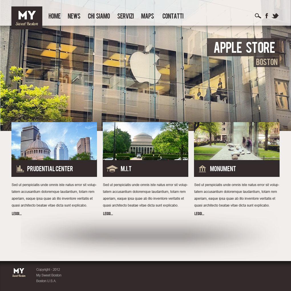 Come disegnare un sito web in photoshop con logica for Design sito