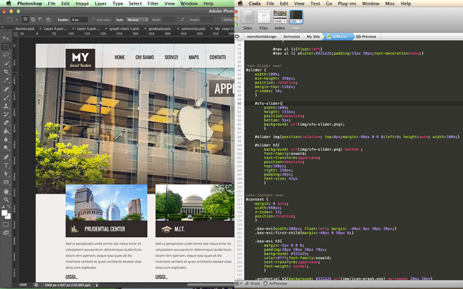 Come costruire un sito Web: da Photoshop al codice Html5 e Css3