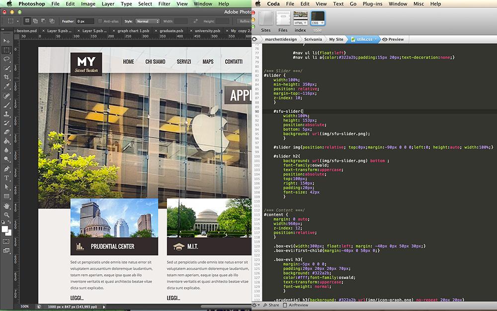 Come costruire un sito web da photoshop al codice html5 e for Siti di design