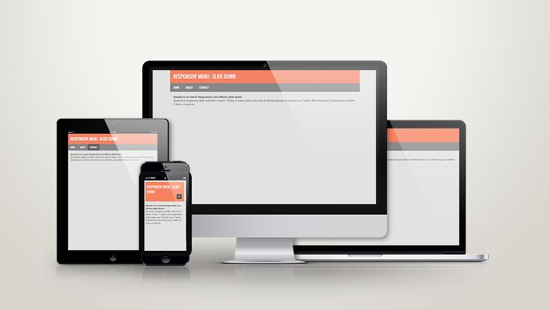 Creare un menu Responsive animato con effetto Slide Down