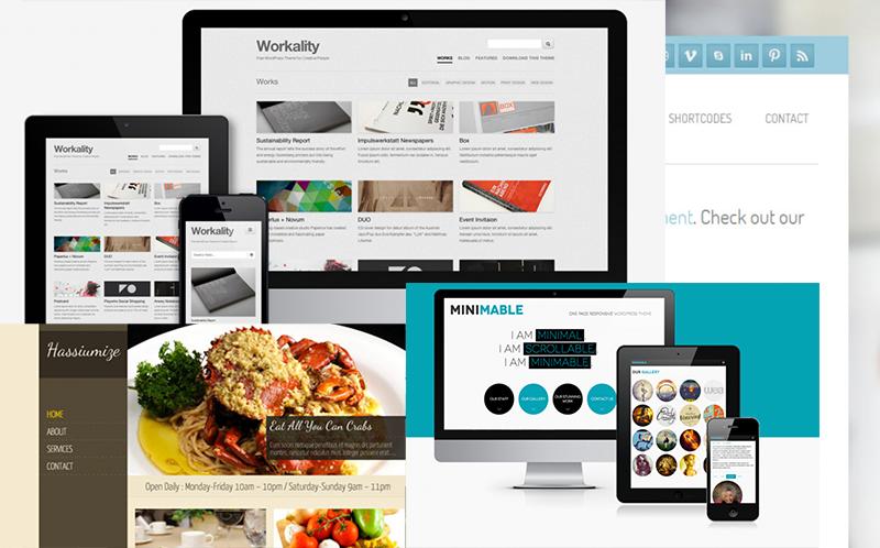 10 Temi WordPress Free (anche Responsive) Minimal e Flat