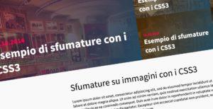 Sfumature su immagini con i CSS3 per Design in stile Magazine
