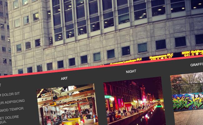Creare uno Horizontal Scroll Panel di immagini e testi con jQuery