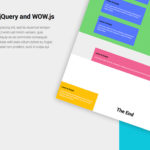 Create an animated landing page layout with Wow.js