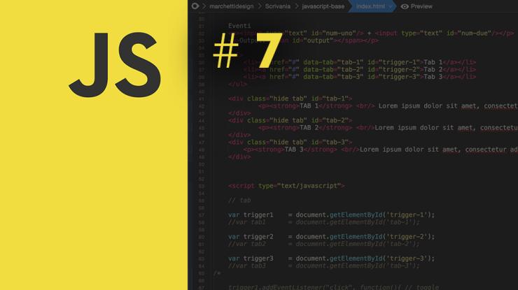 Guida Javascript Base: #7 Esempi pratici di eventi su pagine web con un Tab Layout