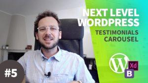 Creare un Tema WordPress dal Design al Codice con Bootstrap NLW#5 – Testimonials & Carousel